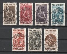 Saar region 1928 - Volkshilfe paintings cancelled; with plate errors - Michel 128/134 + plate error 133 I