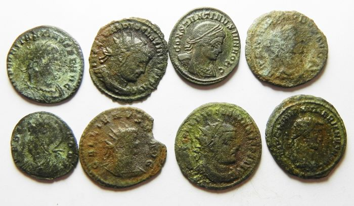 Roman Empire - Lot comprising 16 AE coins. 3rd - 4th Cent. A.D