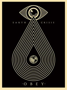 Shepard Fairey (OBEY) - Earth Crisis (Black)