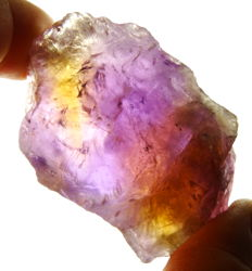 Rough Ametrine (Amethyst - Citrine)  - 6,7 x 4,5 x 2,7cm - 120gm