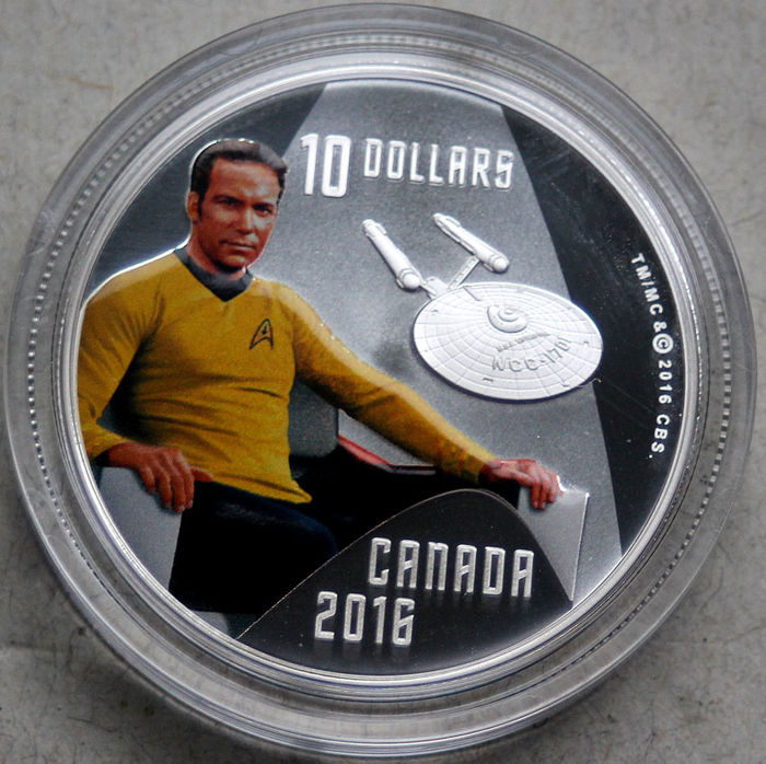 Canada - 10 Dollar 2016 'Star Trek Captain Kirk' - 1/2 Oz - Argent