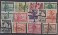 Spain 1929 - Exhibition of Seville and Barcelona Unused sheets - Edifil 34PR/47PR