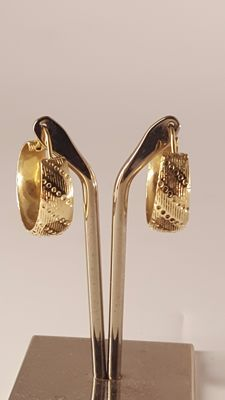 18 kt Yellow Gold Hoop Earrings
