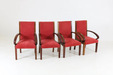 Art Deco - Four armchairs