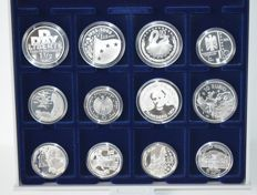Europe - 1½ and 10 Euro 2002/2005 (12 pieces) - silver
