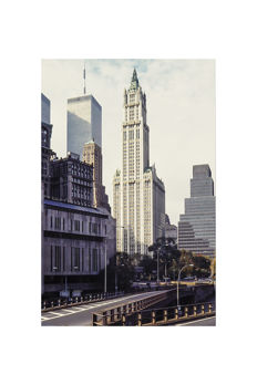 Hans Vos (1960-) - Woolworth building and the WTC, New York, 1992