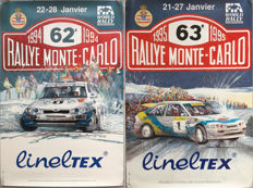 Ford Escort RS Cosworth - Lot of 2 French original posters, 62nd and 63rd Rally of Monte-Carlo - 1994 / 1995
