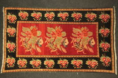 Rare, antique RUSSIAN carpet, collectible, 232 x 136 cm, plant dyes