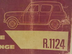 RENAULT 4 - Car parts book - 1961-1967