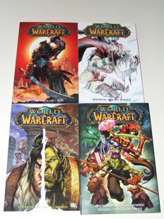 World Of Warcraft - Volumes 1-4 (complete series) - 1x HC With Dust Jacket + 3x TPB/sc - 1st Edition - (2009/2011)