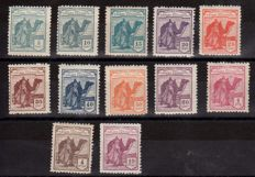 Sahara 1924 - Dromedary and indigenous - Edifil 1/12