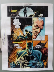 Glenn Whitmore - Original Colourisation (Color Guide Art) - Batman Hollywood Knight #1 - Page 22 - Dick Giordano - (2001)