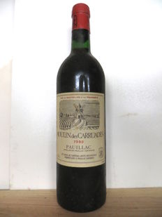 1980  Moulin des Carruades Lafite Rothschild Pauillac x 1 bottle