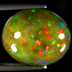 Black opal with Rainbow colors - 15.2 x 12.7 x 6.5 mm - 5.66 ct