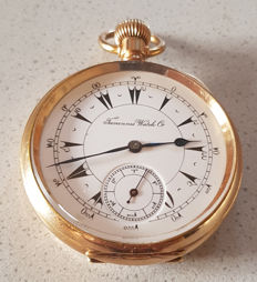 47. Tavannes Watch Co - gold-plated pocket watch for the Ottoman market - circa 1900