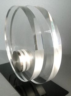 Nico Liedorp - stainless steel and Perspex art object (edition: 350 pieces)