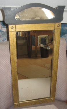 Mirror - art deco style - wooden painted frames with rosettes - Netherlands