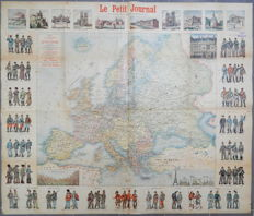Europe; Menetrier / E. Charaire - Carte de Europe Publiée par Le Petit Journal - 1900