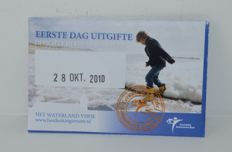 "The Netherlands - 5 Euro coin 2010, ""Waterland Vijfje"" (Waterland fiver) in coin card (first day issue without initials)"