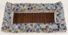 Attr. Barovier & Toso - Rare lighting glass Mirror with frame made of hundreds of glass flowers (83 cm)