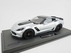 BBR Models - Scale 1/18 - Chevrolet Corvette Z06 Silver Shark Limited 32 pieces