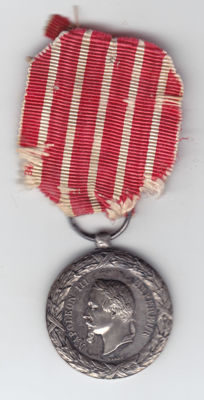 MEDAL OF CAMPAIGN OF ITALY 1859... NAPOLEON III... IN SILVER