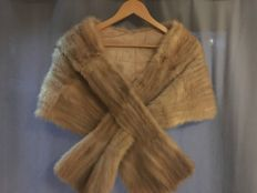 Antique mink fur stole