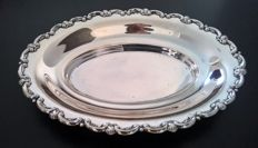 Oval centrepiece in silver 800, Palermo, Italy, mid 20th century