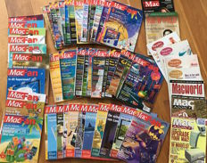 50 issues of Apple magazine 'MacFan' - MacFans from the very first issue in 1995