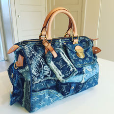 Louis Vuitton - Speedy 30 Denim patchwork handbag - Excellent condition