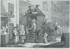 William Hogarth (1697 - 1764) - Burgertafereel in Londen - 1747