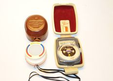 Gossen Lunasix light meter + Gossen sixticolor color temperature meter