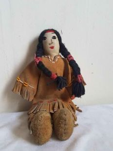 Native American Leather child doll - Plain Indians - USA