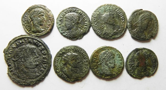 Roman Empire - Lot comprising 16 AE coins, 3rd - 4 th Cent. A.D