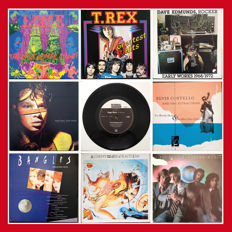 A fantastic collection of 70's and 80's vinyl! rock, indie, garage, glam, prog, pop