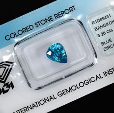 Intense Blue Zircon – 3.26 ct