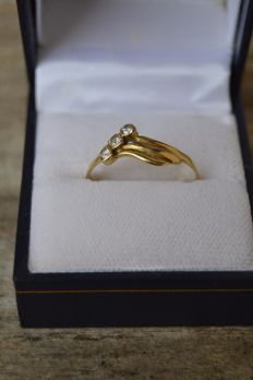 Alliance ring from 1960, 14 kt gold, weight 6 g Size 63.