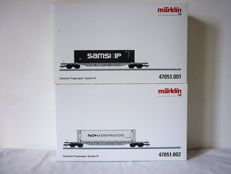 Märklin H0 - 47051.001/47051.002 - Container carrier wagons