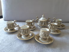 Capodimonte porcelain coffee set, Italy