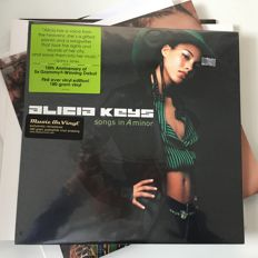 Alicia Keys, lot of 7 records including promos and sealed Songs In A Minor 2LP