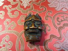 Netsuke of noh mask of Hannya - unsigned - Japan - Late 19th century