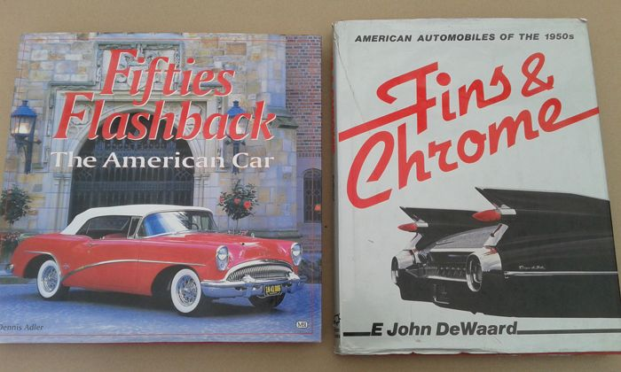 2 American car books concerning the Fifties