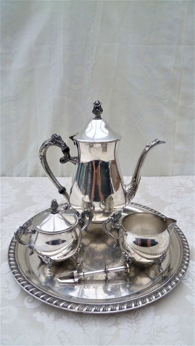 Tea set, 5 parts, Leonard silver plated, stamped - Catawiki