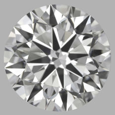 1.06ct Round Brilliant Diamond   D VS2  IGI  3EX -Original image 10x - Serial# WDI-320