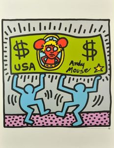 Keith Haring (after) - Andy Mouse & Untitled