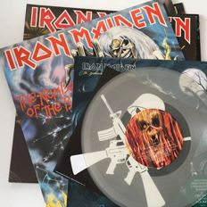 Iron Maiden, lot of 6 original records including coloured vinyl and classic 80s releases