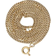14 kt - Yellow gold curb link necklace - Length: 50 cm