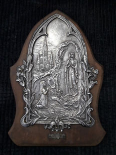 Antique icon of our Lady of Lourdes