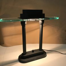 Boxford SMC - (full black) Dimmable table lamp/desk lamp, 1970s