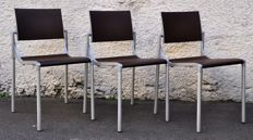 "Sergio Giobbi for Origlia - 3 ""Bonita"" chairs."